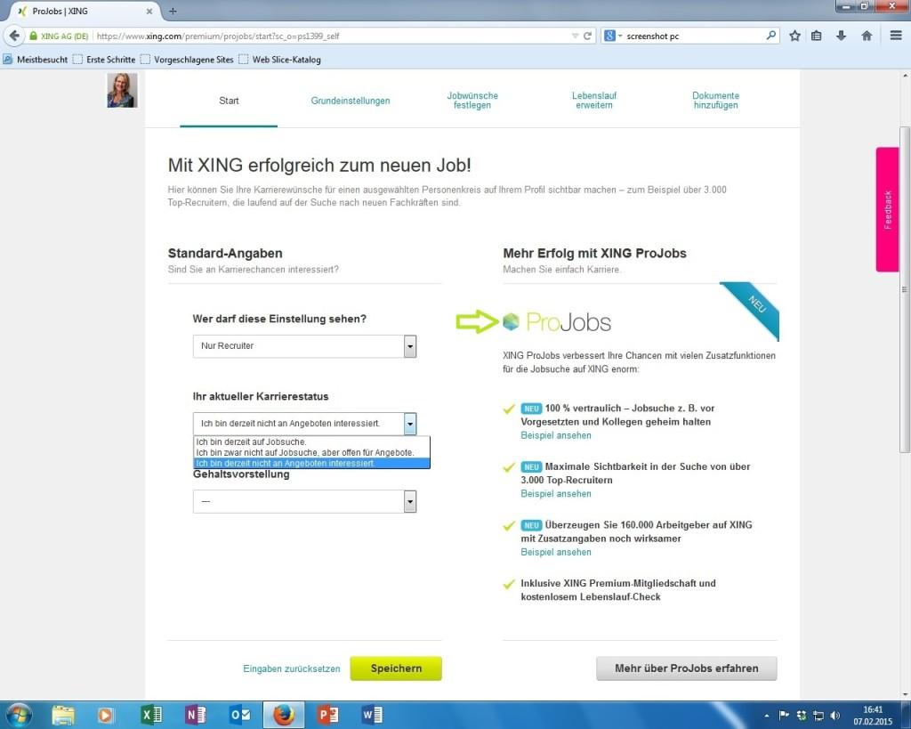Xing ProJobs positiv-abheben-blog.de