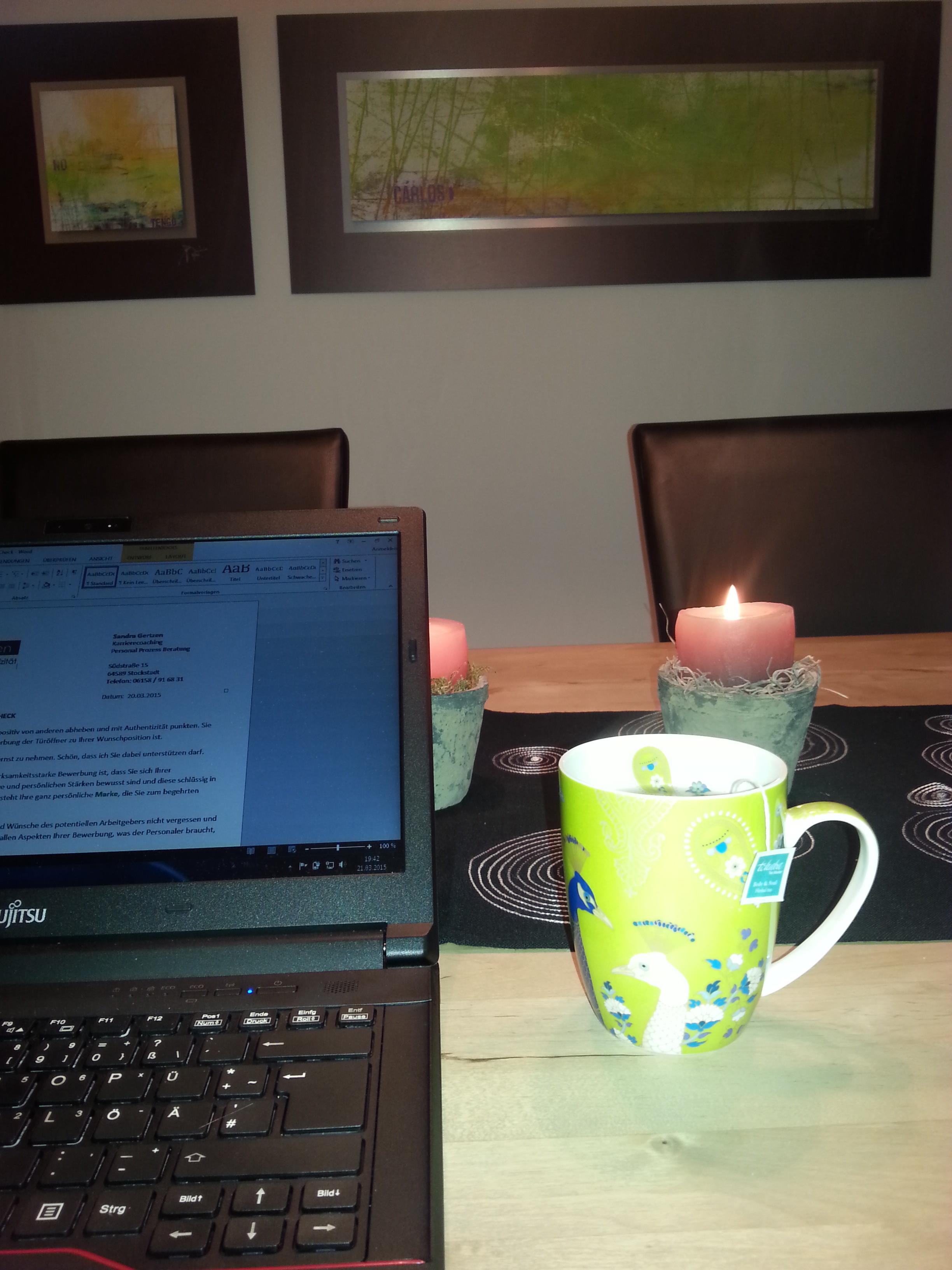 Tasse Tee positiv abheben blog