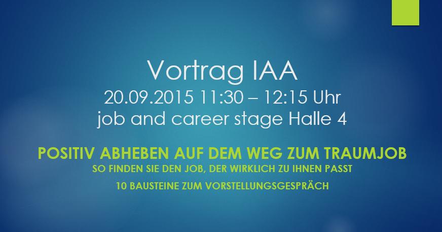 Vortrag IAA 2015 Positiv Abheben