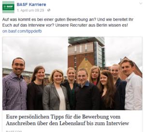 BASF auf Facebook - Personaleroutfits